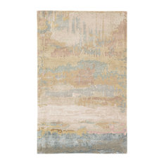 Jaipur Living Benna Handmade Abstract Gold/Light Blue Area Rug, 5'x8'