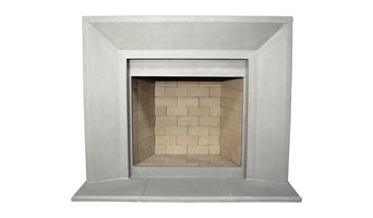 Newport Cast Stone Fireplace Mantel, Pearl