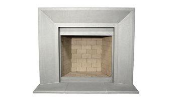 Newport Cast Stone Fireplace Mantel, Pearl