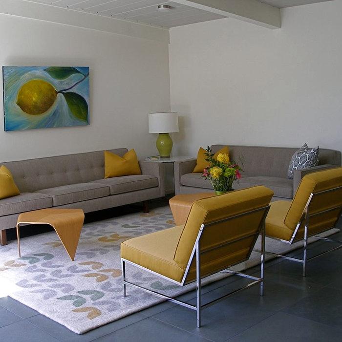 Lemon Paintings by Judy Gittelsohn Home designed by KC Cullen, Design for Living