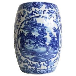 Sensational Oriental Blue And White Porcelain Umbrella Stand Bird Motif Frankydiablos Diy Chair Ideas Frankydiabloscom
