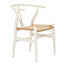 Poly and Bark Weave Chair, White