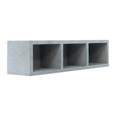 Concrete Wall Shelf, Triple