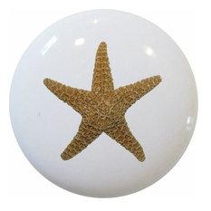 Starfish Nautical Ceramic Cabinet Drawer Knob