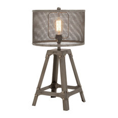 Benzara, Woodland Imprts, The Urban Port   Superb Metal Table Lamp   Table  Lamps Part 11
