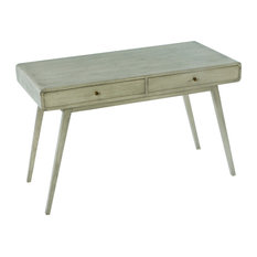Wooden Desk With Two Drawers, Greywash