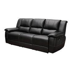 Coaster Home Furnishings - Motion Sofa in Black - Sofas