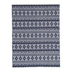 Sunny Kilim-Style Outdoor Rug, Blue, 160x230 cm
