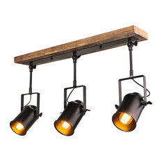 industrial track lighting systems. Laluz - Industrial Wood Close To Ceiling Track Lighting Spotlights 3-Light  Lights Industrial Track Lighting Systems G
