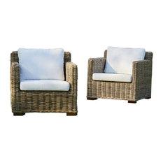 Kubu Rattan Sofa Chairs, Set of 2