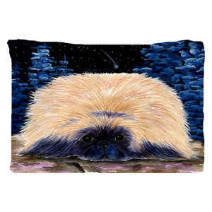 Starry Night Corgi Moisture Wicking Fabric Standard Pillowcase Traditional Pillowcases And Shams By The Store