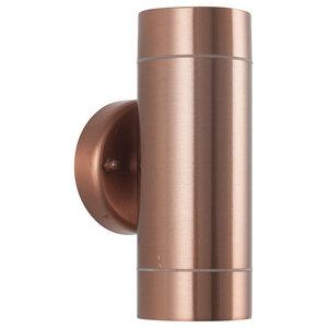Lantana Outdoor Dual Wall Light, Copper