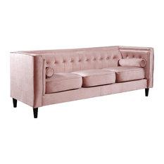 Taylor Pink Velvet Sofa, Pink