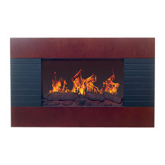 Northwest Mahogany Electric Fireplace With Wall Mount and Remote
