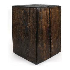 Santa Fe Solid Pine Cube Table, Dark Walnut