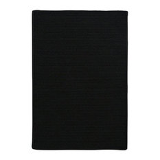 Colonial Mills, Inc - Simply Home Solid Rug, Black, 8'x11' - Outdoor Rugs