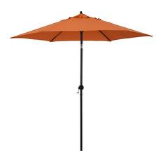 Astella 9' Round Outdoor Patio Umbrella With Push Tilt, Polyester, Tuscan