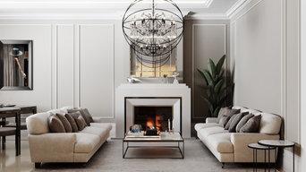 Роскошный интерьер современной квартиры