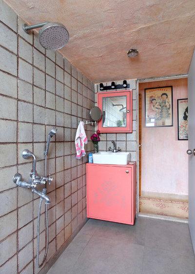 Industrial Bathroom by Mrigank Sharma Photography