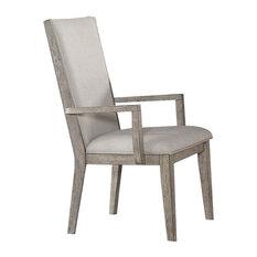 Acme Rocky Arm Chairs Set Of 2 Gray Oak