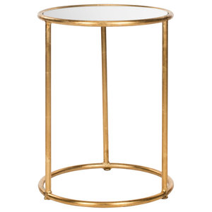 Safavieh Caitlin Accent Table, Gold and Mirror