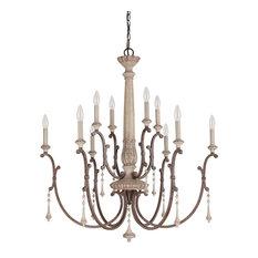 Capital Lighting Fixture Company Cau French Oak Country Chandelier W 10