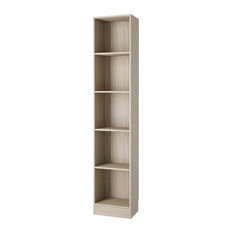Element Tall Narrow 5 Shelf Bookcase, 15.98""