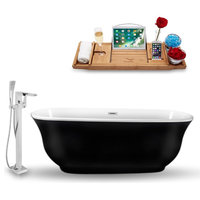 """Streamline 67"""" Freestanding Tub, Faucet and Tray Set, H-120 Faucet"""