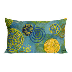 "Graffiti Swirl Blue Pillow - 12""X20"""
