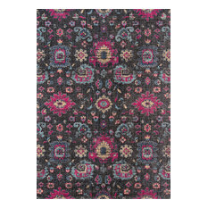 "Momeni Jewel JW-01 Area Rug, Charcoal, 7'10""x9'10"""
