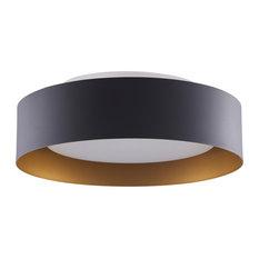 Lynch Flush Mount Ceiling Light, Black & Gold