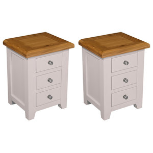 Ventry 3-Drawer Bedside Table, Set of 2