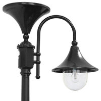 Everest Solar Lamp Post, Black