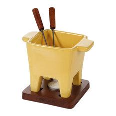Yellow 5-Piece Tapas Fondue Set