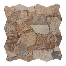 SomerTile Attica Stone-Look Ceramic Floor/Wall Tile, Case of 7, Tan