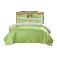 Fern Crystal Quilt, Lime, Queen