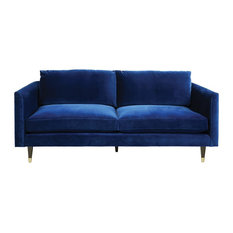 Living by Christiane Lemieux - Henry Sofa, Navy Blue, 3-Seater - Sofas