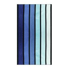 100% Cotton Faded stripes Oversized Beach Towel - Blue