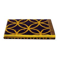 Njack Rug, Prune and Yellow, 120x180 cm