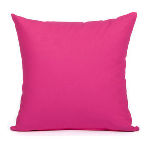 """Solid Hot Pink Accent, Throw Pillow Cover, 18""""x18"""""""