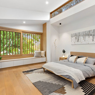 Inspiration for a scandinavian master bedroom in Sydney.