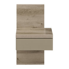 Brooklyn Smoked Oak Bedside Table With Drawer