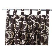 "Mogul Interior - Sari Curtains Designer Printed Tab Top Saree Drapes Window Panels- Pair, 48""x96"" - Curtains"