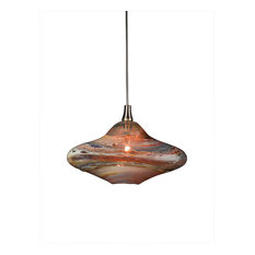 Shakuff   Genie Glass Pendant Light, Amber Multi   Pendant Lighting