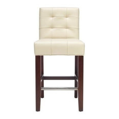 Thompson 23.9-inch Leather Counter Stool