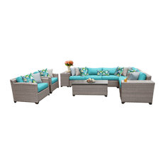 Florence 11 Piece Outdoor Wicker Patio Furniture Set 11d