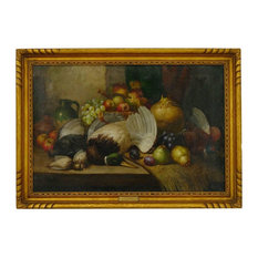 """Consigned Still Life Antique Painting """"Fruit & Game"""" by William Duffield (Britis"""