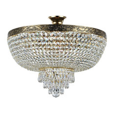 Diamant Crystal Palace Semi Flush Chandelier, 6 Lights