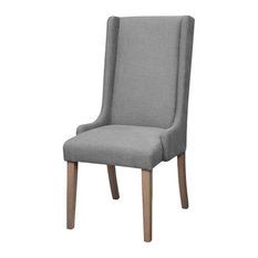 Coaster Levine Brown and Dark Gray Dining Chair