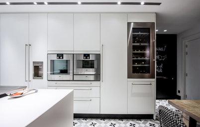 Una cocina de 32 m² muy familiar y con una gran zona de desayuno